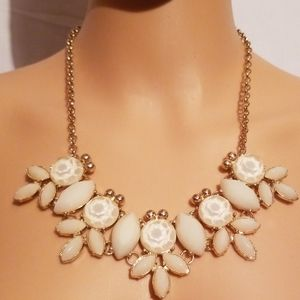 Gold And Decorative Crystal Stone Necklace
